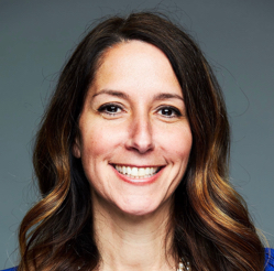 A headshot image shows Chief Content Strategist Audrey Greenberg smiling
